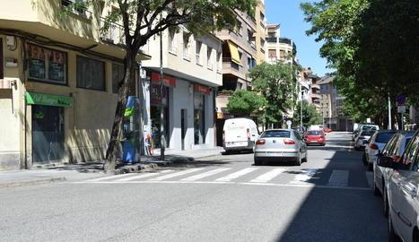 L'atropellament d'ahir va tenir lloc al pas de vianants del carrer Bisbe Iglesias Navarri de la Seu.