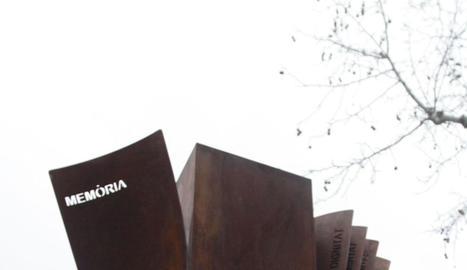 Monument a les víctimes a Lleida.