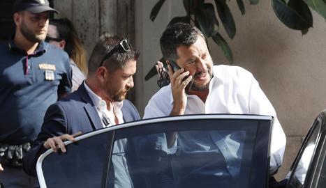 El ministre de l'Interior del govern d'Itàlia i líder del partit ultradretà La Lliga, Matteo Salvini.