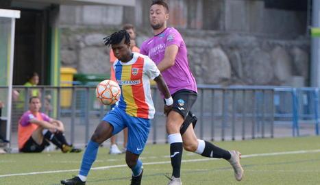 El partit va ser de màxima igualtat, entre dos equips de Segona B.