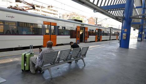 Imatge de l'estació en la vaga del passat 31 de juliol.