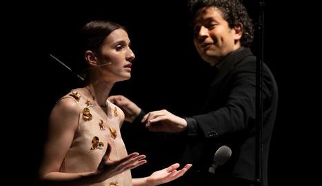 María Valderde, observada per Gustavo Dudamel a Peralada.