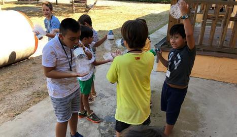 Una de les activitats que s'han dut a terme en el projecte 'Estiu de joc' a Lleida.