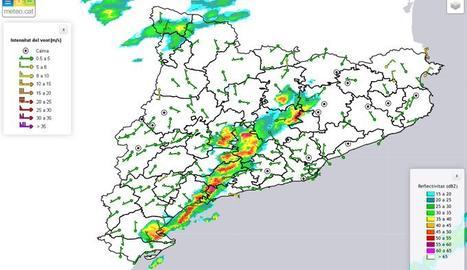 Alerta per pluges intenses a la costa catalana