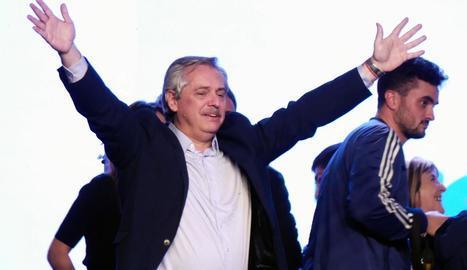 Alberto Fernández, al conèixer la victòria a les primàries.