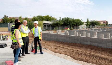 La visita aquest dimarts a les obres del nou institut de Mollerussa.