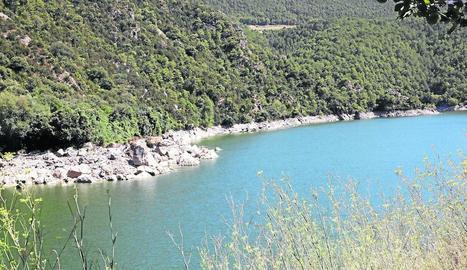 El riu Noguera Ribagorçana, al seu pas pel congost de Mont-rebei aquest cap de setmana.