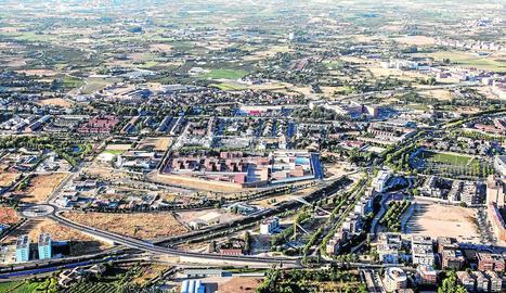 Vista aèria del barri de Ciutat Jardí, on els veïns alerten d'un repunt dels robatoris.