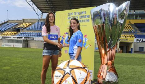 Inés Altamira, de l'Espanyol, i Vanesa Núñez 'Pixu' es veuran les cares el dia 22 a la Copa Catalunya.