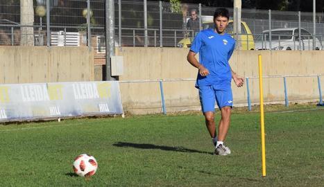 Abel Molinero ja es va exercitar ahir amb la resta de companys.