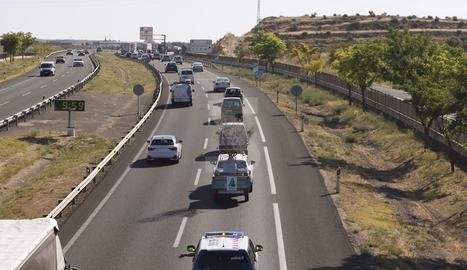 La marxa lenta ha sortit de Torrefarrera i ha anat fins a Barcelona per l'A-2.