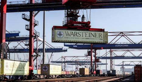 El port d'Hamburg, a Alemanya-