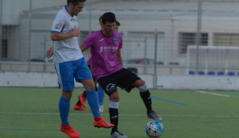 Abel Molinero, l'últim fitxatge del Lleida Esportiu, va debutar dimecres contra el Mollerussa.
