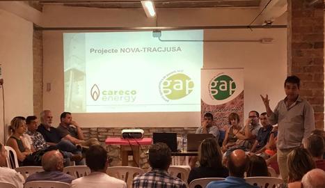 Reunió informativa dels promotors de Nova Tracjusa dimarts passat a Juneda.