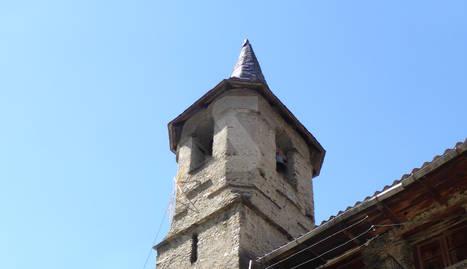 Vista de l'església d'Ainet de Cardós.