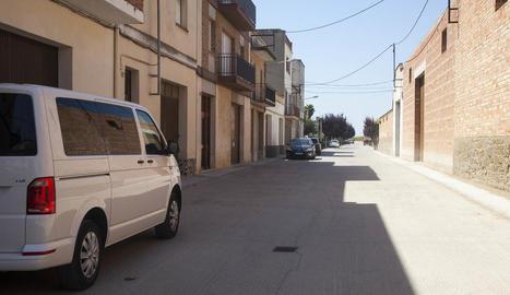 Vista general del carrer Urgell de Castellserà.