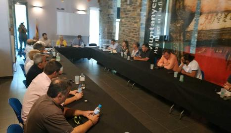 Un moment del ple extraordinari del Consell Comarcal del Pallars Sobirà.