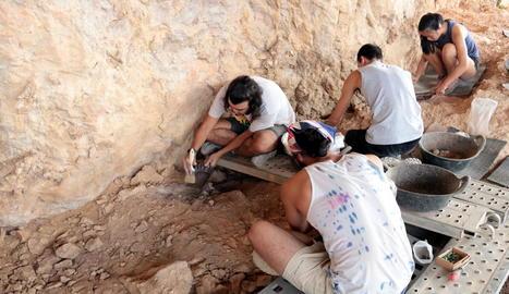 Una dotzena d'estudiants participen en les excavacions.