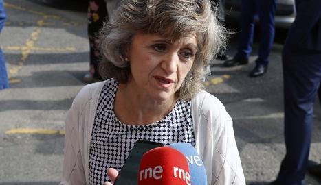 La ministra de sanitat, Consum i Benestar Social en funcions, María Luisa Carcedo.