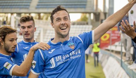 Pedro Martín, en un partit amb el Lleida Esportiu.