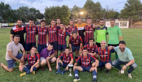 Plantilla del Castelldans, guanyadors del torneig aquest cap de setmana passat.
