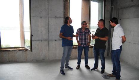 La visita a la primera planta de Cal Sinén.