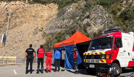 Andorra instal·la una bomba d'aigua per drenar la cubeta de la zona de l'esllavissada