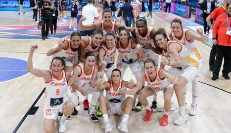 La selecció espanyola de bàsquet femení va aconseguir l'or.