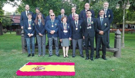 Els lleidatans Nunci Rodríguez i Josep Triquell, quarta i cinquè des de l'esquerra, fila inferior.