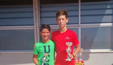 Jordi González, amb Joel Anglés, guanyador del torneig.