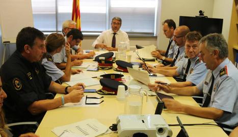 Reunió de seguiment del pla estival d'acció policial a Catalunya.