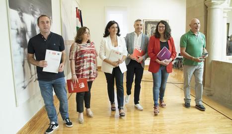 PSOE, Podem i IU van acordar ahir la investidura a la Rioja.