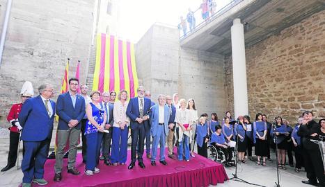 L'acte institucional que la Paeria va celebrar a la Seu Vella el dia 11 de setembre de l'any passat.
