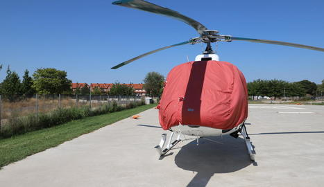 L'heliport del parc de bombers està situat en una zona residencial de Ciutat Jardí.