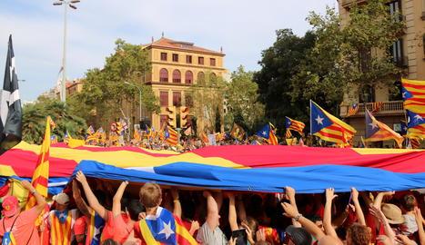 Una imatge de la manifestació de la Diada a Barcelona de l'any passat.