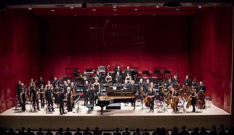 El pianista Giuseppe Andaloro i la Simfònica del Vallès, dijous.
