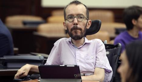 El dirigent d'Unides Podem, Pablo Echenique.