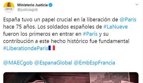 Polèmica per una piulada del ministeri de Justícia sobre el