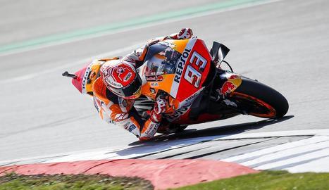 Marc MÀrquez rubrica en MotoGP la seua quarta 'pole' consecutiva de l'any