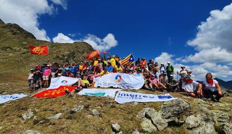 Imatge dels participants a la trobada transfronterera.