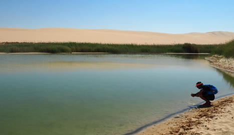 Arcadi Climent, en un moment de l'expedició que el va portar al Sàhara a Egipte.