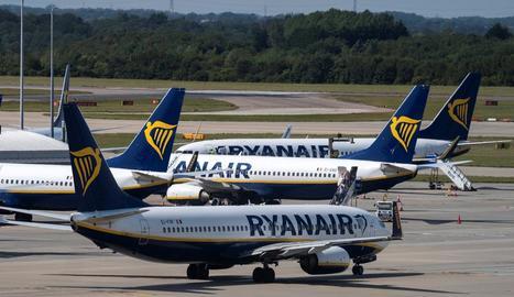 Avions de la companyia aèria Ryanair.