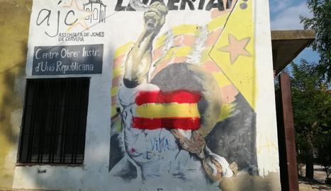 Atac espanyolista al Centre Obrer de Cervera