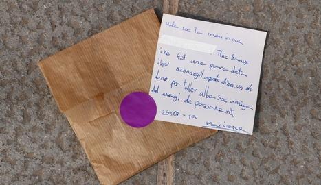 Una nena de 8 anys deixa un donatiu amb una carta a l'associació Alba i es fa viral