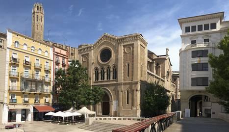 Imatge d'arxiu de la plaça Sant Joan de Lleida