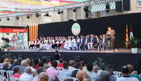 Tradicional proclamació de pubilles i hereus ahir a Alcarràs.