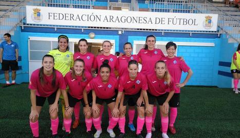 La formació inicial que va presentar l'AEM ahir a Saragossa.