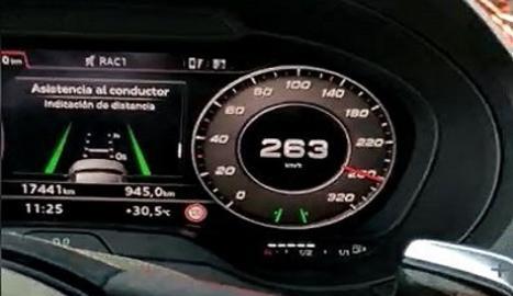 Denunciat per circular a 263 km/h en un tram de 90 i gravar-lo