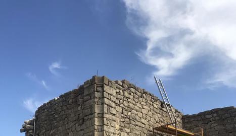 Les obres de restauració de l'ermita de Santa Caterina.