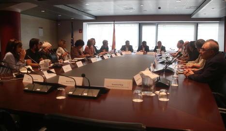 La reunió d'ahir del Govern, diputacions i municipis.